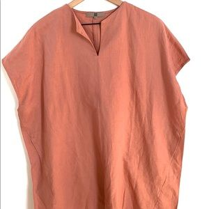 LOOK 100% Linen Blush tunic dress or top, Size M/L